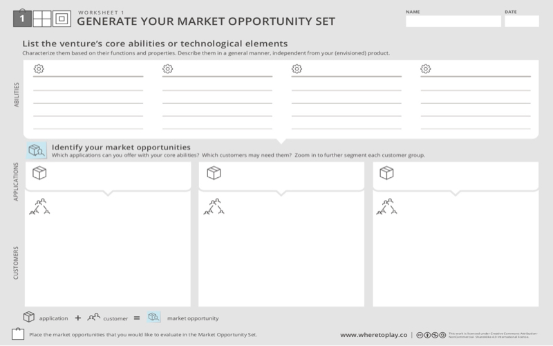 GENERATE YOUR MARKET OPPORTUNITY SET